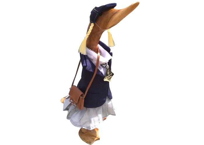 Wooden Duck Gift -  QUACK TO SCHOOL GIRL