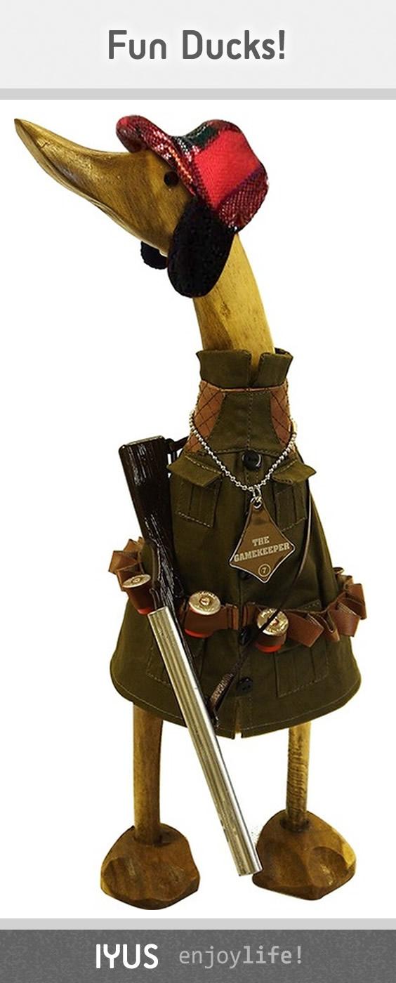 The Gamekeeper Wooden Duck