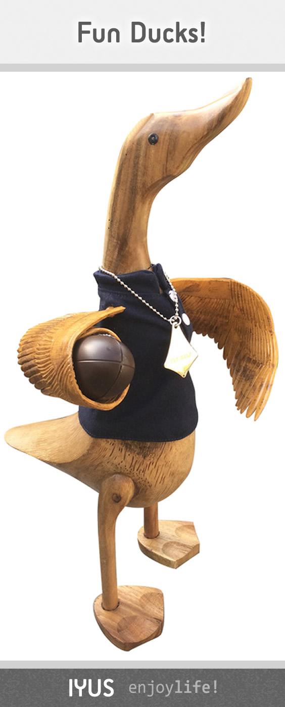 Scottish Rugby Wooden Duck