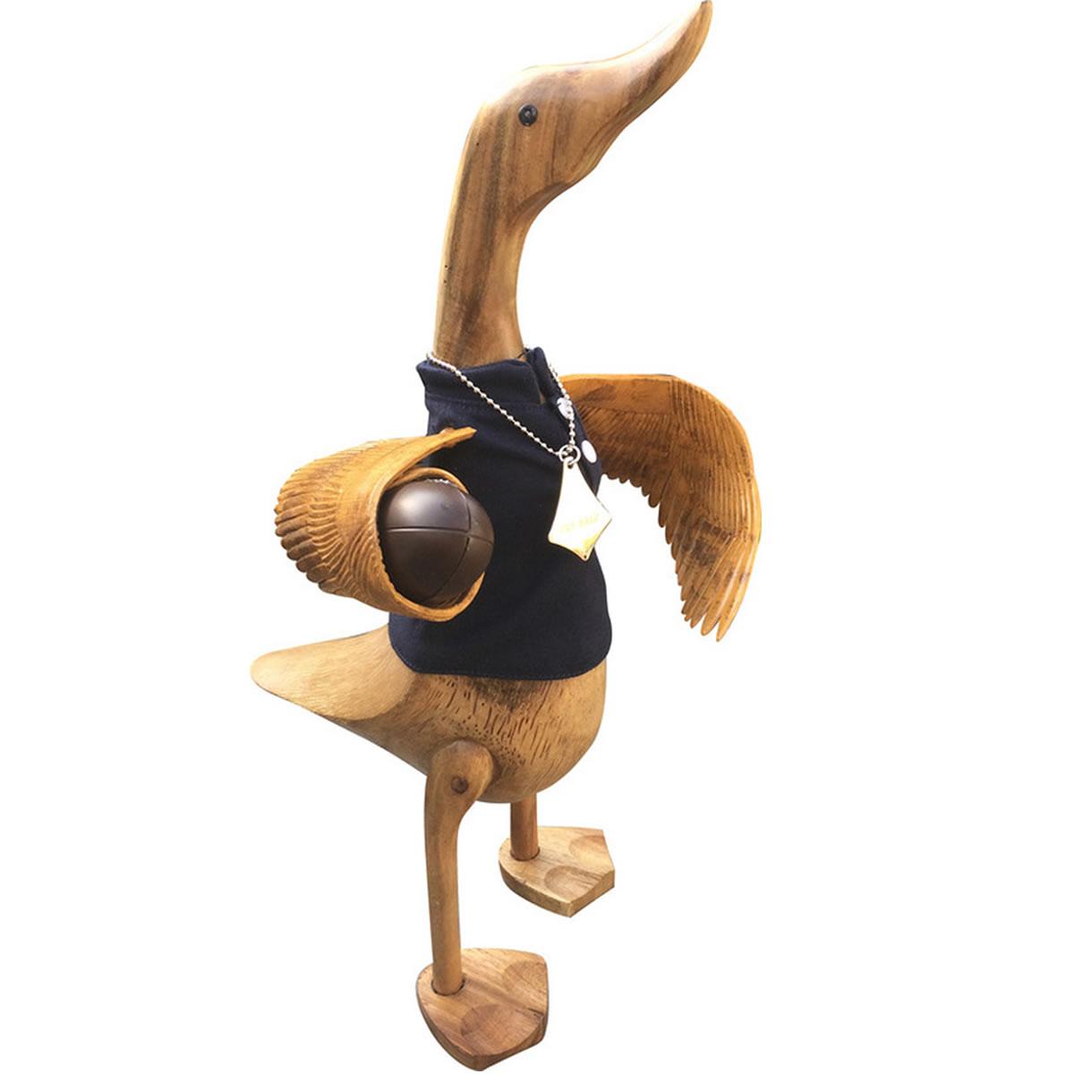 Scotland Wooden Duck Wearing Black Shirt