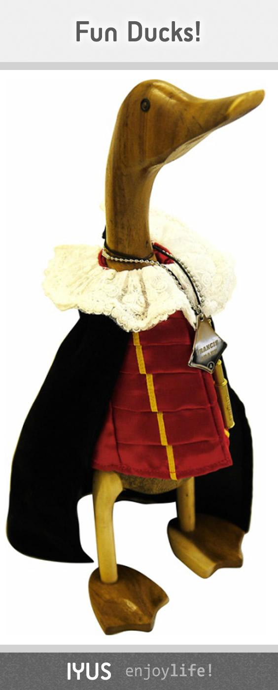 Sir Francis Drake Wooden Duck